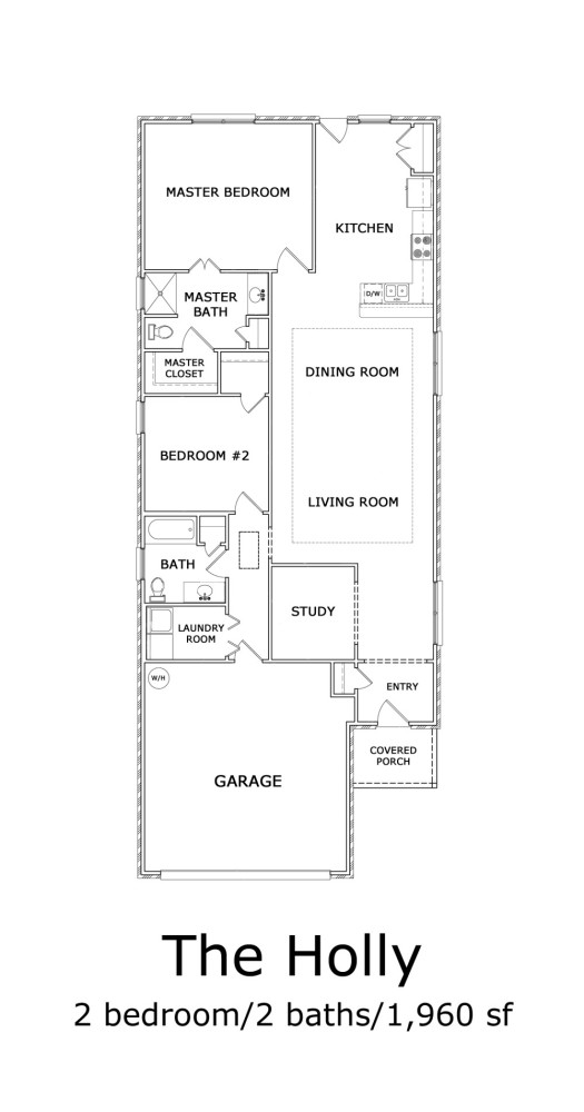 The Holly 2-Bedroom Floor-plan